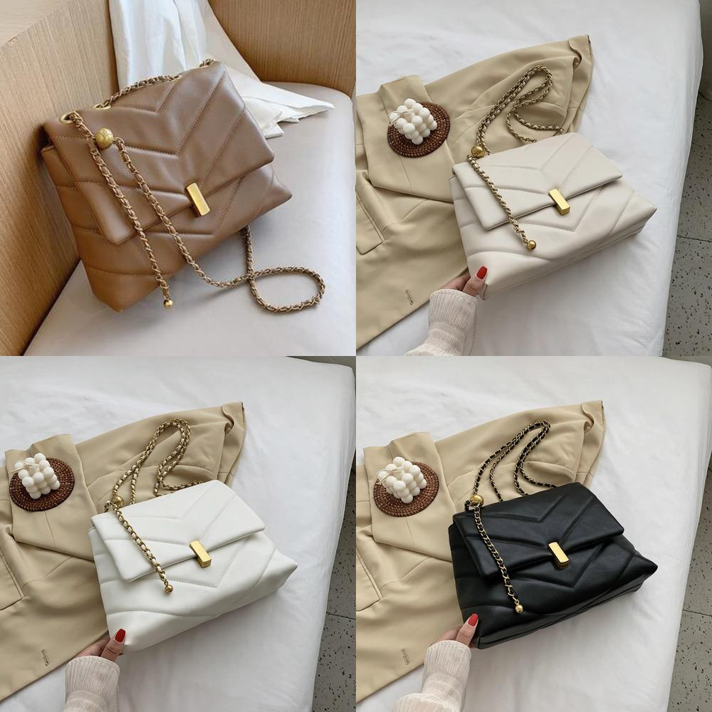 2021 Elegant Female Large Tote bag Fashion New High quality PU Leather Women's Designer Handbag Chain Shoulder Messenger Q1215
