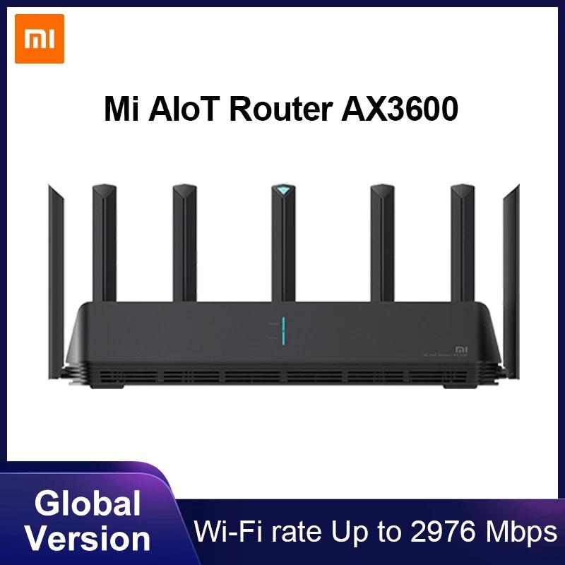Xiaomi Mi AIoT Router AX3600 Wifi 6 Dual-Band 2976 Mbs Gigabit Rate WPA3 Security Encryption Mesh Wifi External Signal Amplifier