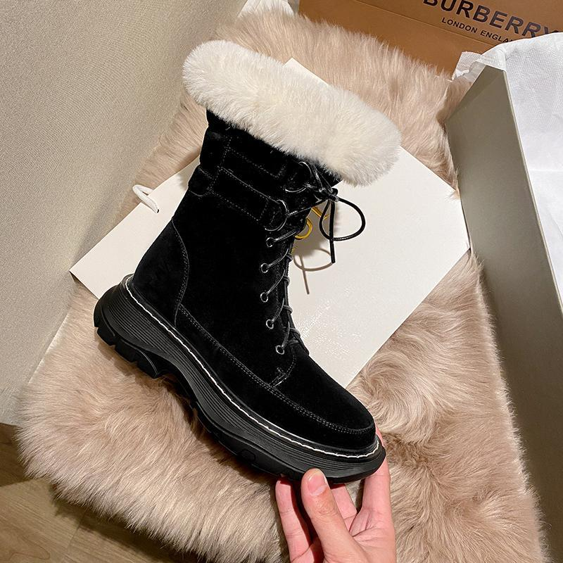 SKLFGXZY 2020 Kış Ayakkabı kadın Kar Botları Hakiki Deri Sıcak Tutun Sıcak Titreşli Platform Takozlar Ayak Bileği Çizmeler Kadınlar Için