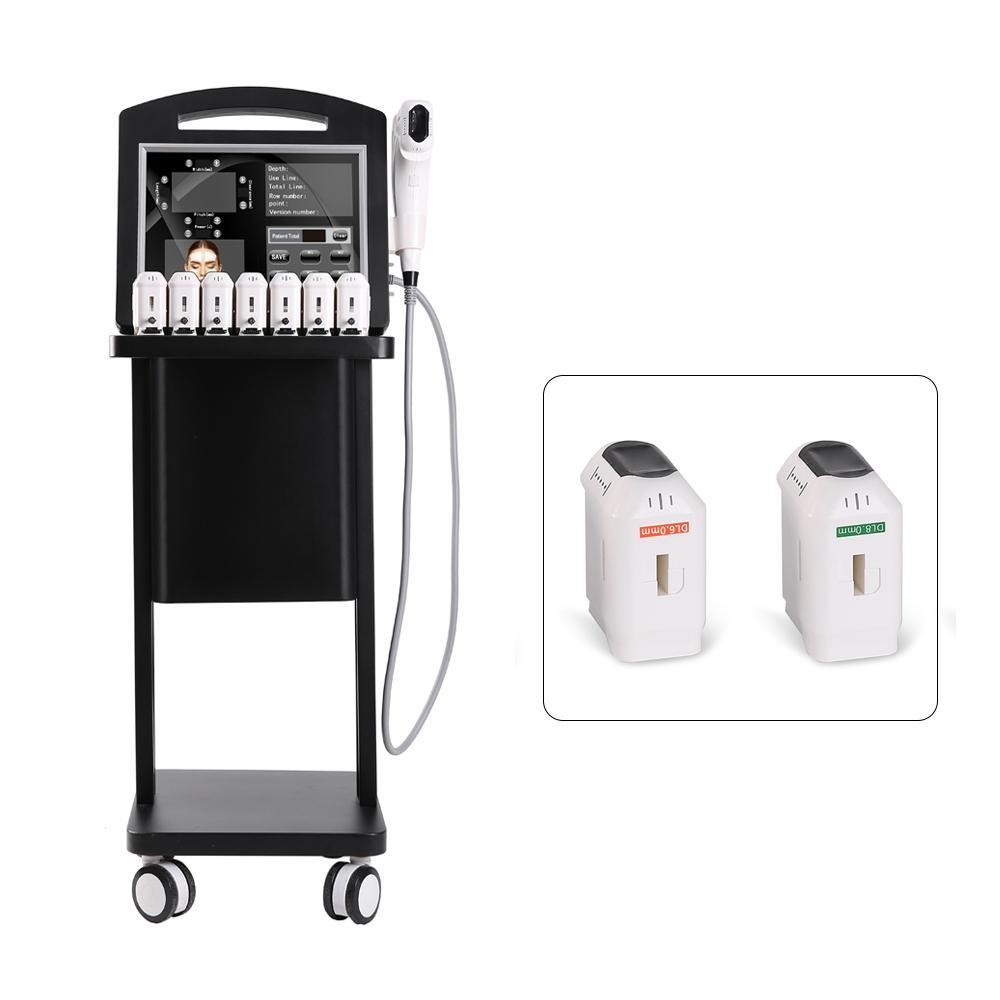 2021 Frete Grátis Hifu Ultrassom 4D 12lines Facel Lifting and Body Slimming Machine com 3 cartuchos de tinta