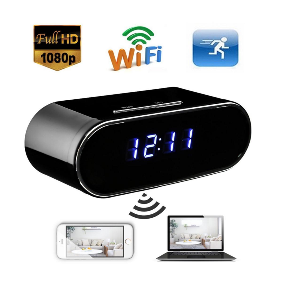 Volemer 1080P HD часы камеры Z10 WIFI управления Скрытый ИК ночного видения сигнализации Цифровые часы видеокамера Mini DV DVR видеокамеры