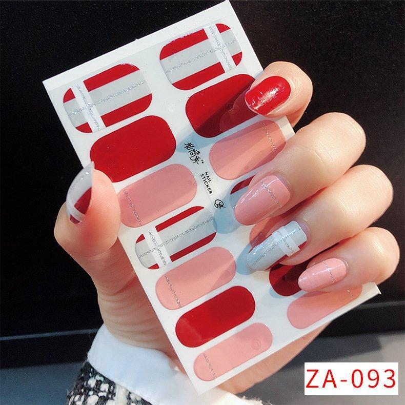 Unhas adesivos 3d carimbando imitação diamante impermeável adesivos completos adesivos pregos arte manicure decorações 002