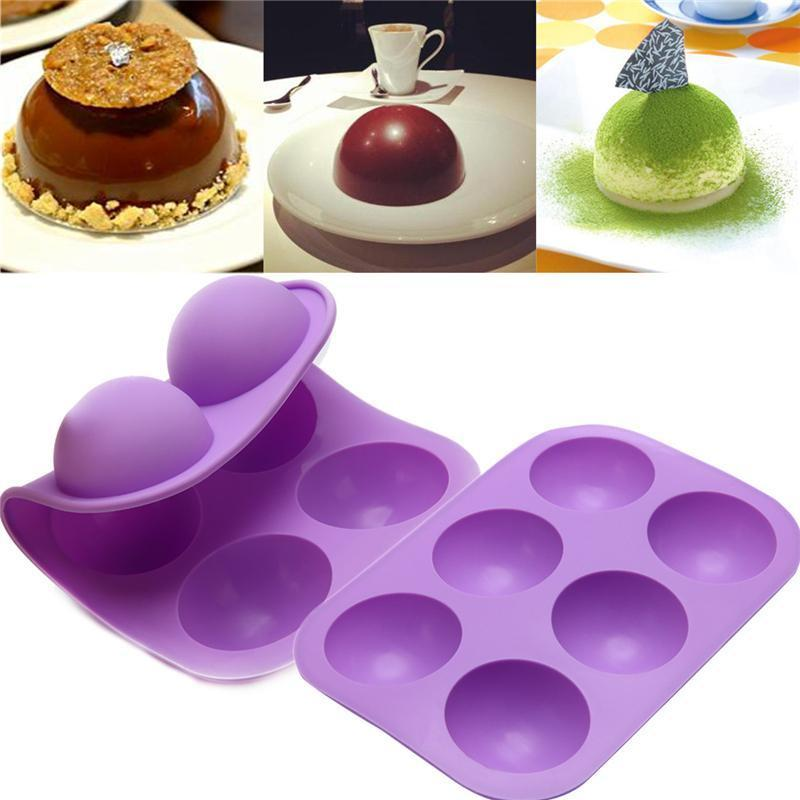 Stampi al cioccolato in silicone rotondo per torta di cottura Stampo cilindro di caramelle per biscotti sandwich muffin cupcake brownie torta budino jello