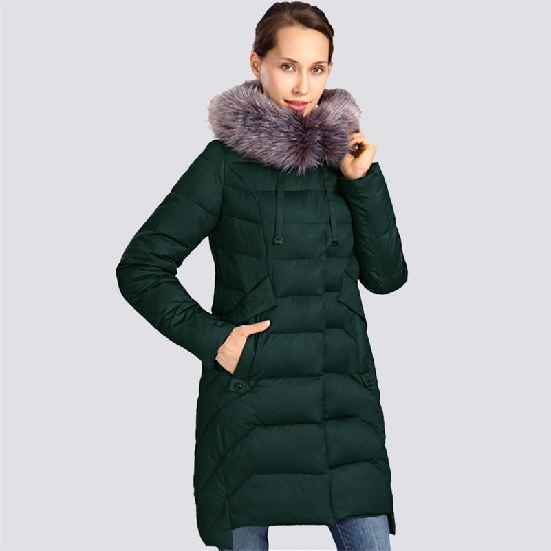 Yeni Kış Ceket Kadınlar Artı Boyutu Kürk Yaka Uzun Bayan Kış Ceket Kalın Yüksek Kalite Sıcak Aşağı Ceketler Parka Dış Giyim 201215