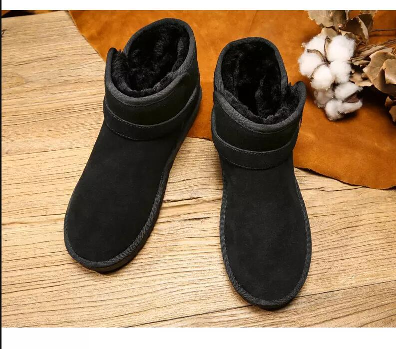 Heißer Verkauf-Mode-Stiefel für Männer Frauen braune Kastanien schwarz grau Winter Booties Knie Knie-Knöchel-warme Stiefel bequeme Wohnungen 36-45