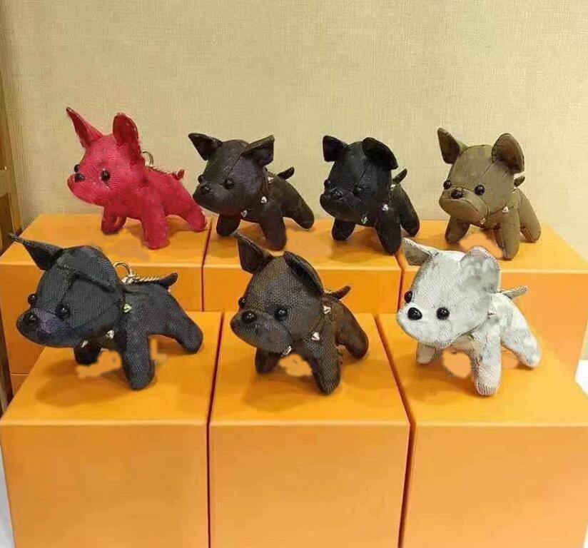 مصمم الكرتون الحيوان كلب صغير الإبداعية مفتاح سلسلة الملحقات حلقة رئيسية بو الجلود إلكتروني نمط سيارة المفاتيح مجوهرات الهدايا الملحقات