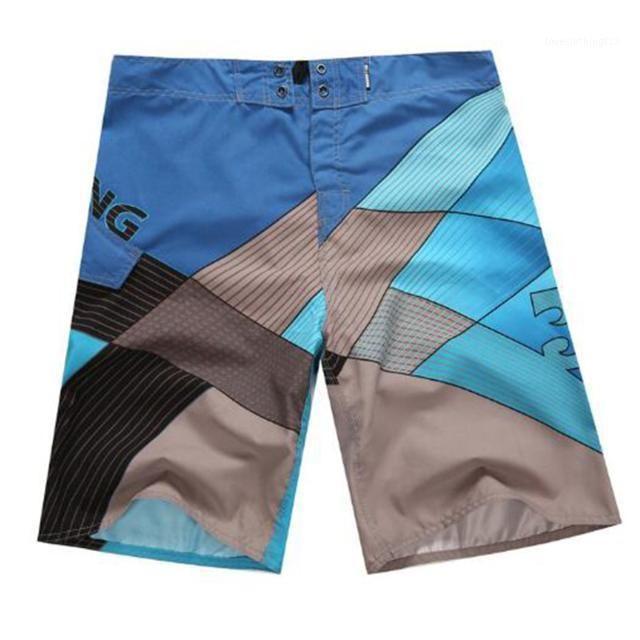 Plaj Şort Erkekler Yüzme Mayo Hızlı Kuru Mayo Yüzmek Sandıklar Beachwear Mayo Sörf Yaz Koşu Cep Altları Board1