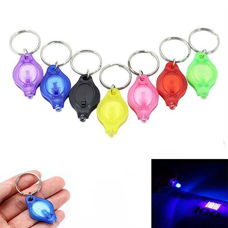 Мини Светодиодный фонарик Портативные подарки Брелок Micro UV Огни Открытый Кемпинг Аварийные Темные районы Рюкзак Пешие прогулки