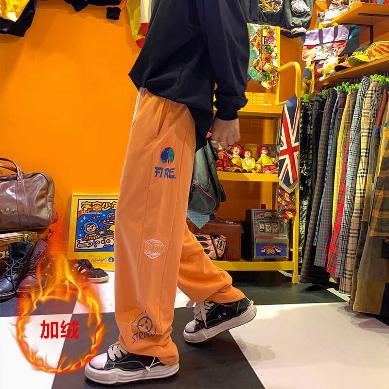 Мужские кашемировые штаны INSERNEND BRORD Свободная осень и зима Древесина спортивные брюки молодежь прямые повседневные штаны