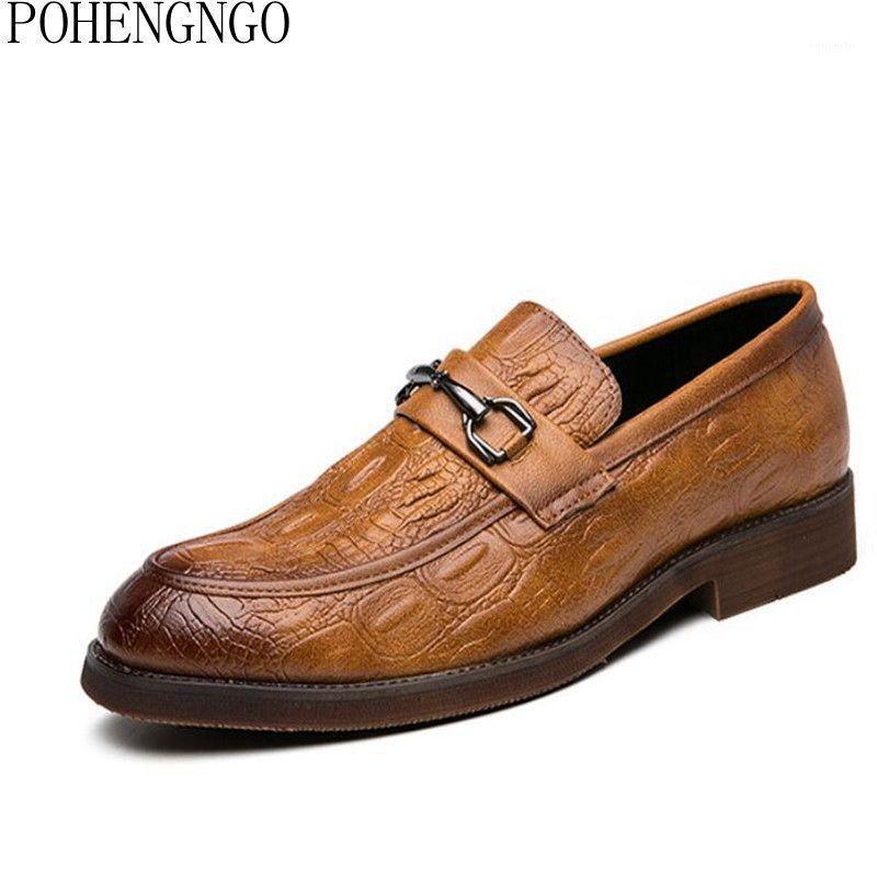 Mode Designer Mens Hommes Bureau Chaussures A Gentleman Oxford Chaussure De Mariage Formelle Chaussures de Crocodile De Haute Qualité De Haute Qualité Poiny Robe De Chaussures Men1