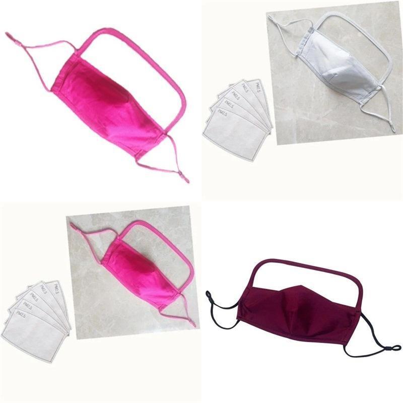 Многоразовые противоречивые респираторы красочные лица выпущены PM 2.5 Фильтр чипсы рта Маскарилла Регулируемая удобная 6 7am e2