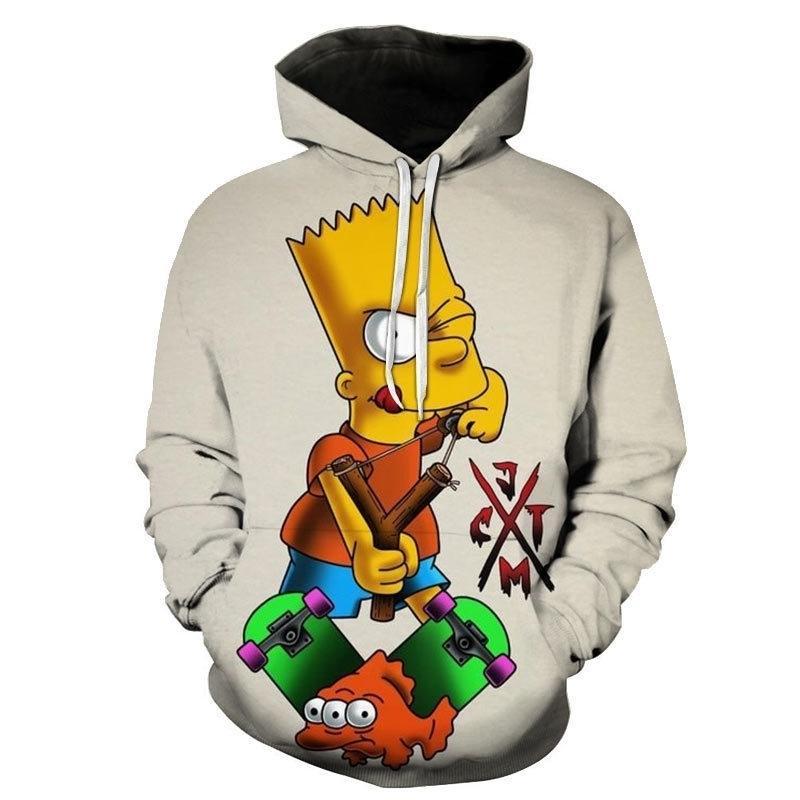 Sudaderas de moda de dibujos animados Los Simpsons 3D Hombres impresos Mujeres Moda casual Sudadera con capucha Pullover Hip Hop Streetwear Tops Y201123
