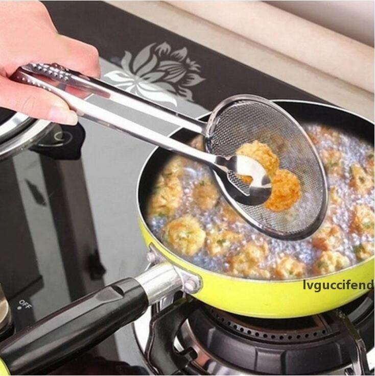 Küche ölbrillig Filterkorb Edelstahl Filterlöffel mit Clip Multifunktionsküchensieb Andere Küchenwerkzeuge