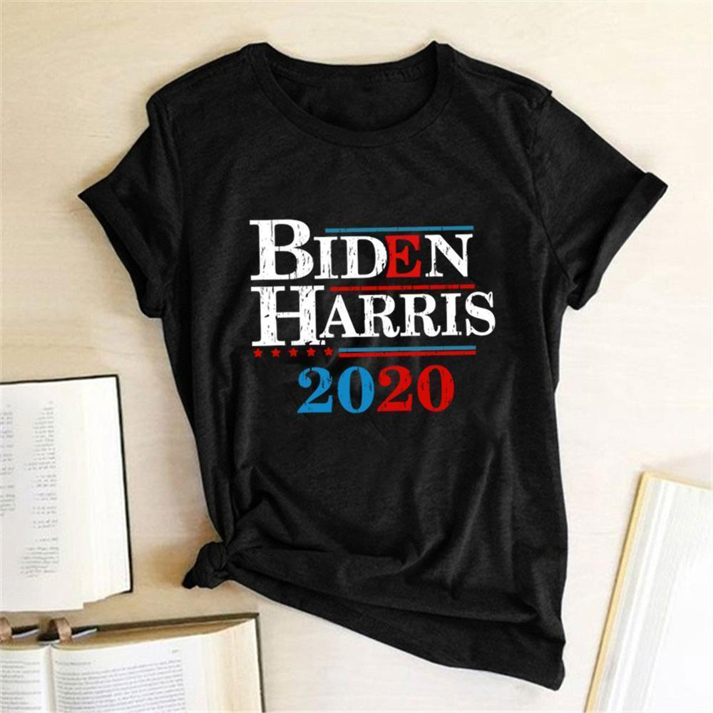 Biden Harries 2021 Printing T-shirts Women Summer Tops for Women Fashion Woman Tshirts Cotton Round Neck Aesthetic Clothes Femme