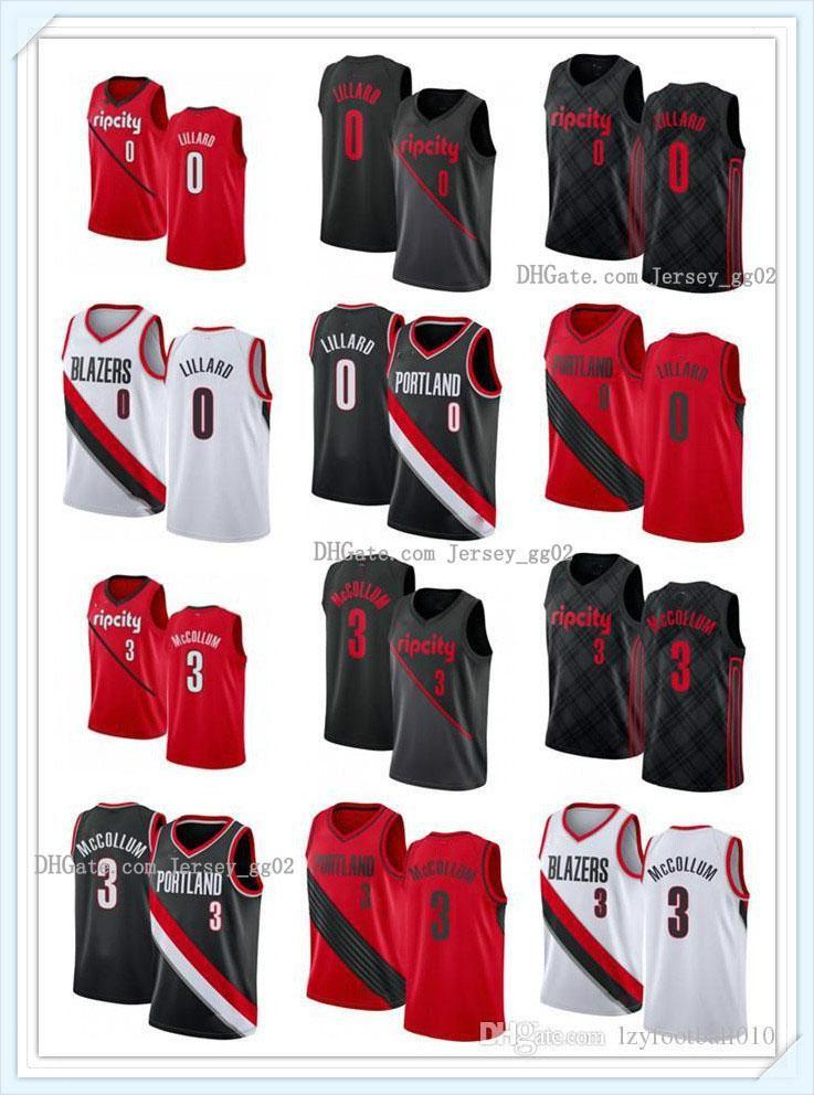 NCAA Mens Womens PortlandPisteBlazersSeattleSupersoniqueNBA DAMIAN 0 LILLARD C.J. 3 MCCollum Custom Basketball Jerse
