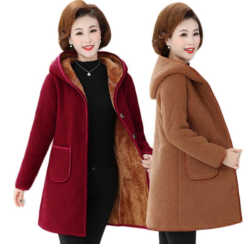 Großhandel Produkt in 2021 Mode Pelzmantel Frauen Herbst / Winter Übergroße Mantel Imitation Lammwolle Oberbekleidung Fabrikausgang 361