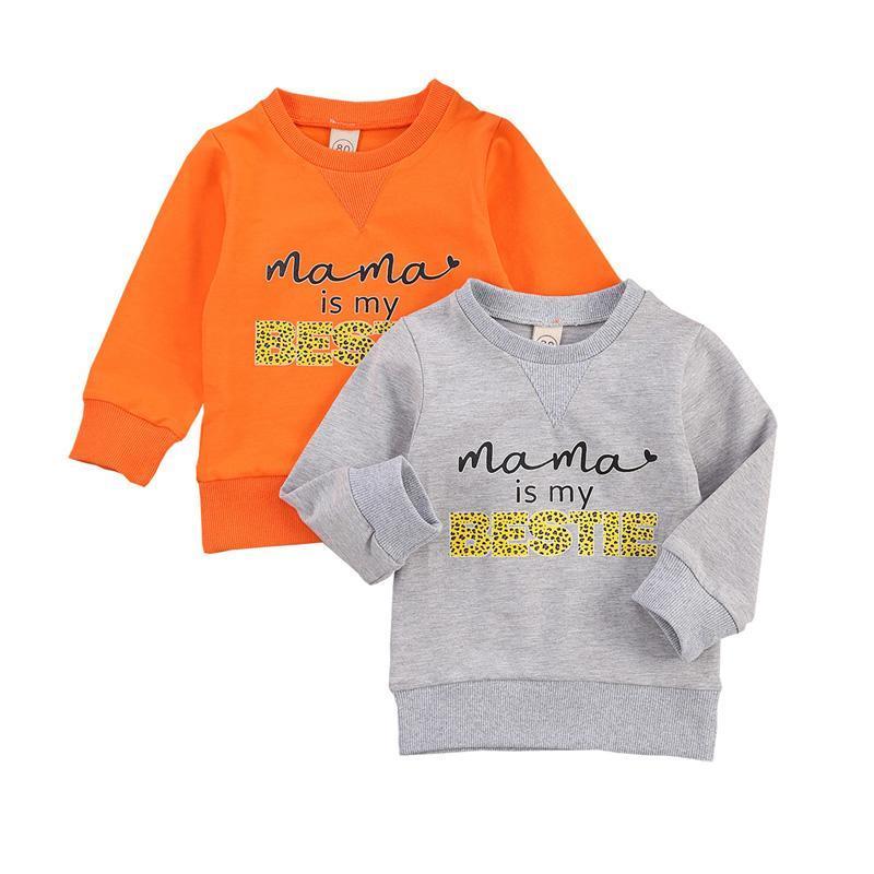 0-3Eas Bebés recién nacidos Casual Sudaderas Pullover de manga larga letras impresas patrón