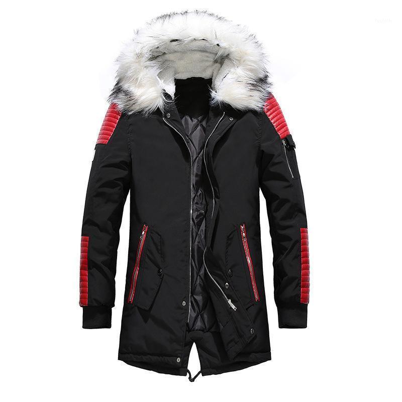 2020 NOUVEAU HIVER DOWN MEN MEN HIVEMENT Veste rembourrée Long manteau PLUS VELVEPT Vêtements pour hommes à capuche1
