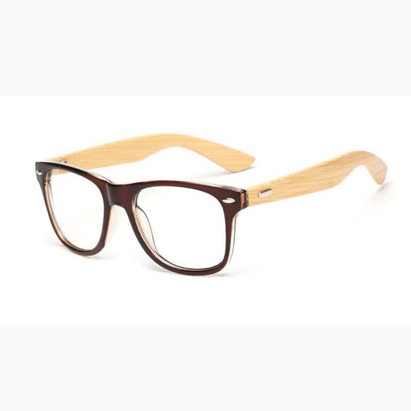 Classico lente retrò Nerd Occhiali da legno Cornici Fashion Brand Designer Uomo Donna Eyeglasses Occhiali da vista ottici Occhiali da vista per le donne Men1