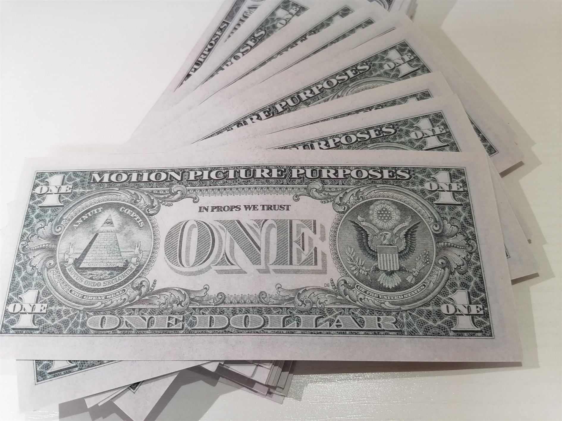2020 Vendite dirette della fabbrica transfrontaliera di banconote da New $ 1 Puntelli