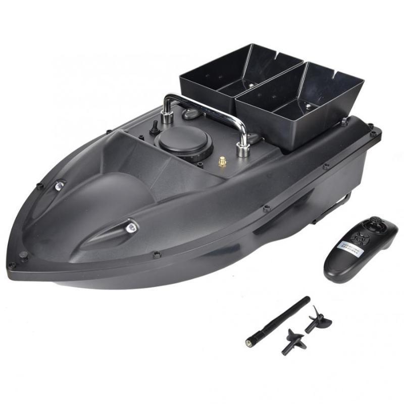 100-240V Zwei Bin RC Köder Boot Wireless Fernbedienung Fisch Finder Boot 1.5kg Köder Angeln RC Schiff Feste Geschwindigkeit Cruising