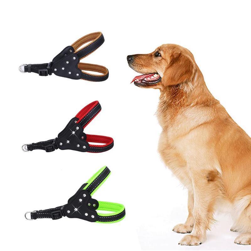 Собака ошейники поводки поводки веревочки дайвинг ткань подкладки безопасности домашних животных щенк на груди ремня