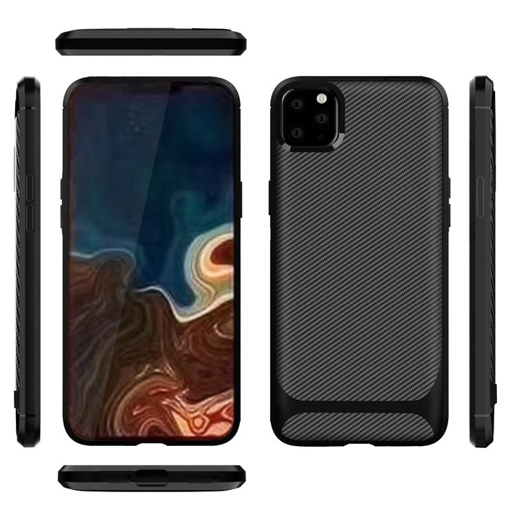Carbon fiber rubber shockproof mobile phone cover New for phone 11 pro x xr xs max 8 7 6 plus tpu case