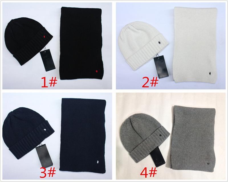 Sciarpa di vendita calda Cappello a due pezzi Donne Donne Autunno Inverno Brand Sciarpa Cappelli Set moda con etichetta con cappelli a maglia da sci etichetta