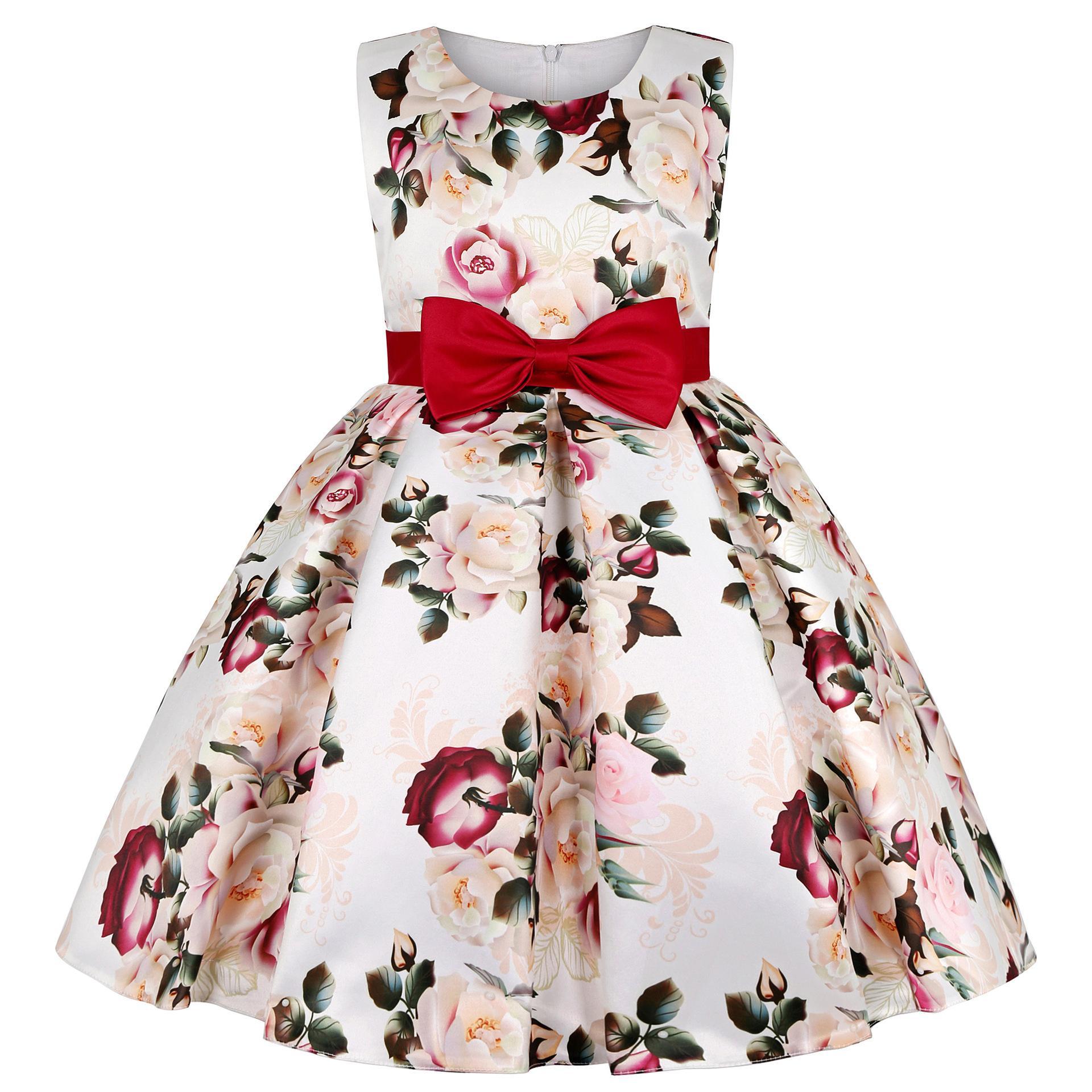Vestido de princesa de la princesa de la ropa de la impresión de Navidad para las niñas vestidos de boda vestidos de boda ropa de los niños 9 10 años