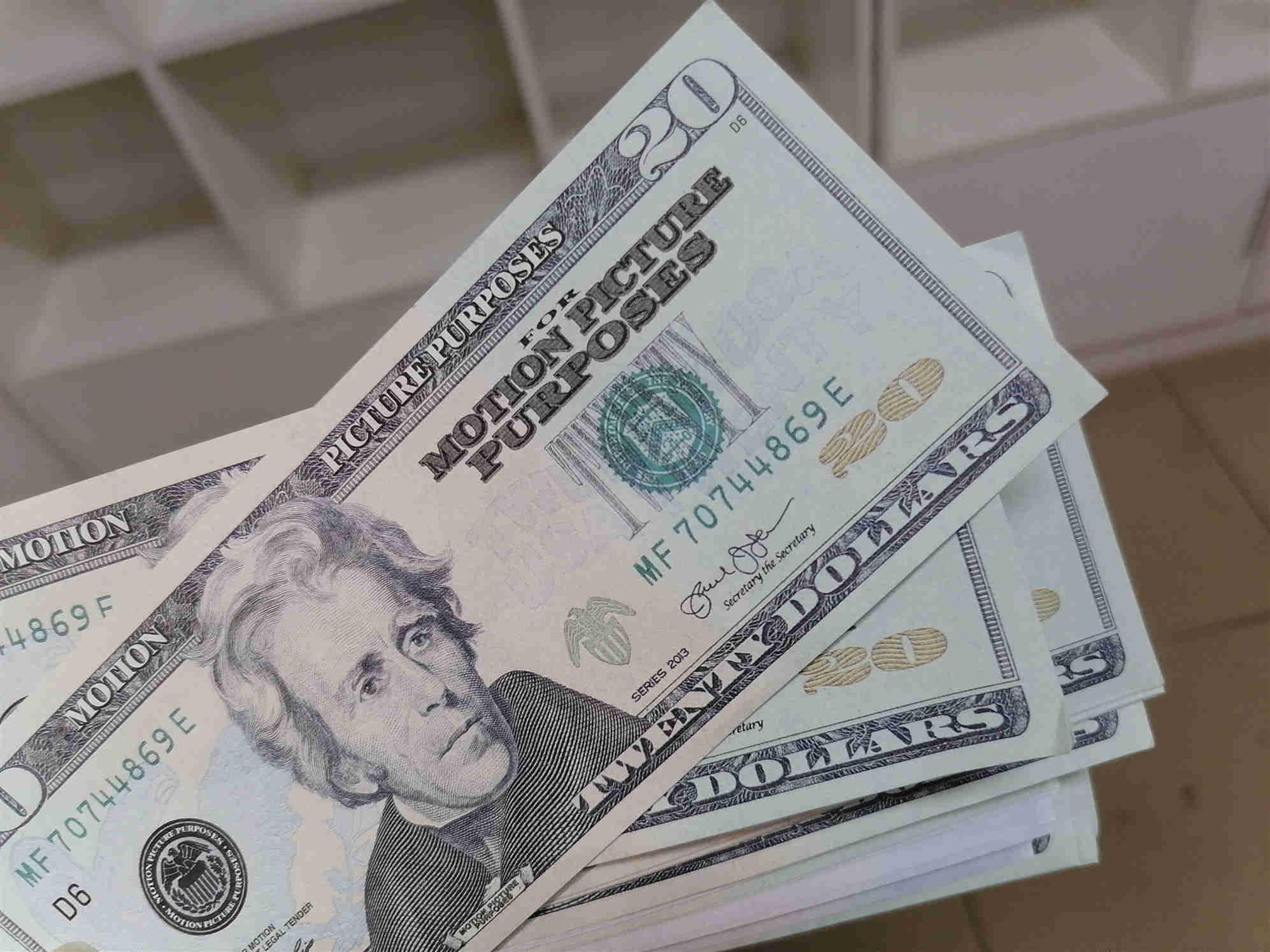2020 Außenhandel Grenze Neue 20 Dollar Bar Party Geburtstagsfeier Spielzeug Banknoten