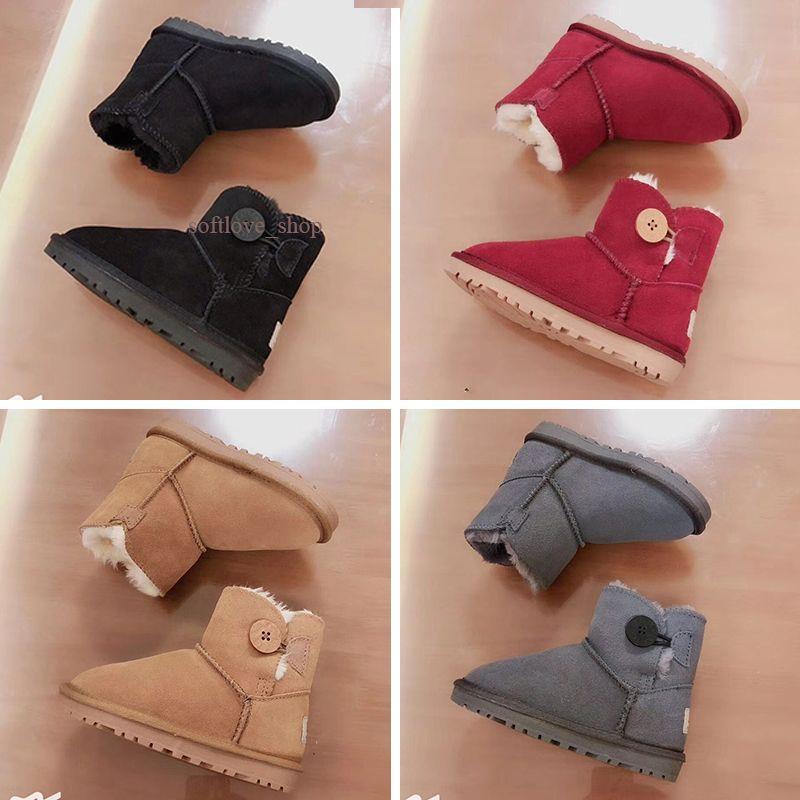 UGG boots أحذية أطفال على الانترنت أحذية الأطفال الثلوج الاستمرار في الدافئة عالية الجودة أحذية رياضية الشباب بوي فتاة كرة السلة أحذية رياضية بيع US11C-3Y EUR 21-35