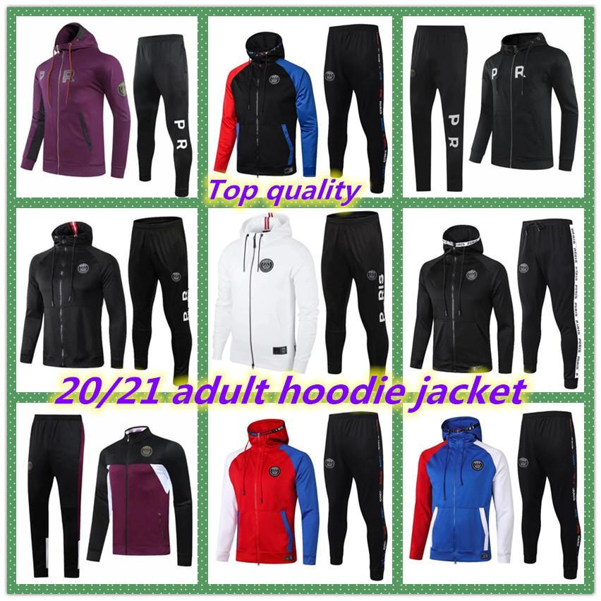 2020 2021 Париж для взрослых куртка с капюшоном отдыха на выжитие 20 21 Paris Chandal Futbol MBappe Футбольная куртка 20/21 футбольный трексуи