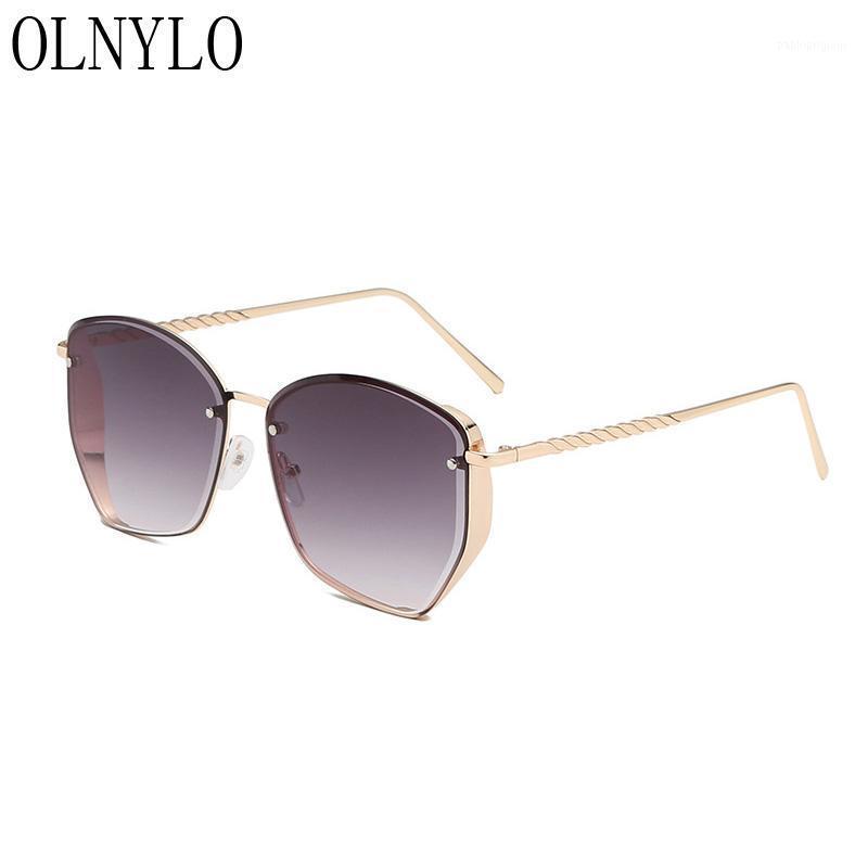 Güneş gözlüğü retro pilot tarzı degrade marka tasarımcısı açık sürüş siyah güneş gözlükleri vintage moda ulculos feminino1