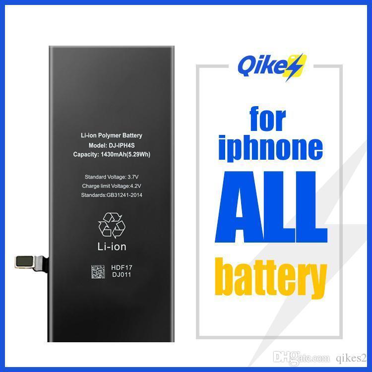 Qikes pil iphone 6 6g 6 s 7 8 artı x xs max 11 pro max Batarya değiştirme gerçek kapasiteli cep telefonu bateria iPhone sopası için