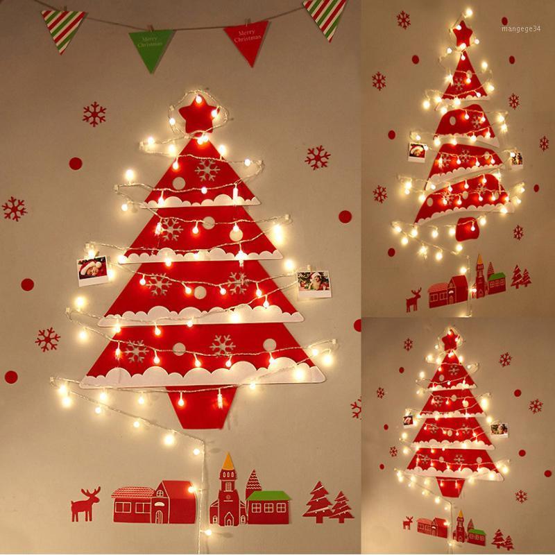 Diy Vermelho Decoração de Árvore de Natal Papai Noel Brinquedos Brinquedos Glow Xmas Decor para Casa 2020 Xmas Pendurado Ornamentos Ano Novo 2021 presentes1