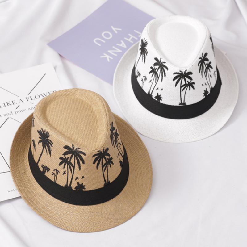Fashion Estate Caps Uomo Panama Fedora Protezione solare larga Brim Trienby Sombrero Casual Travel Beach Sun Sun Hat