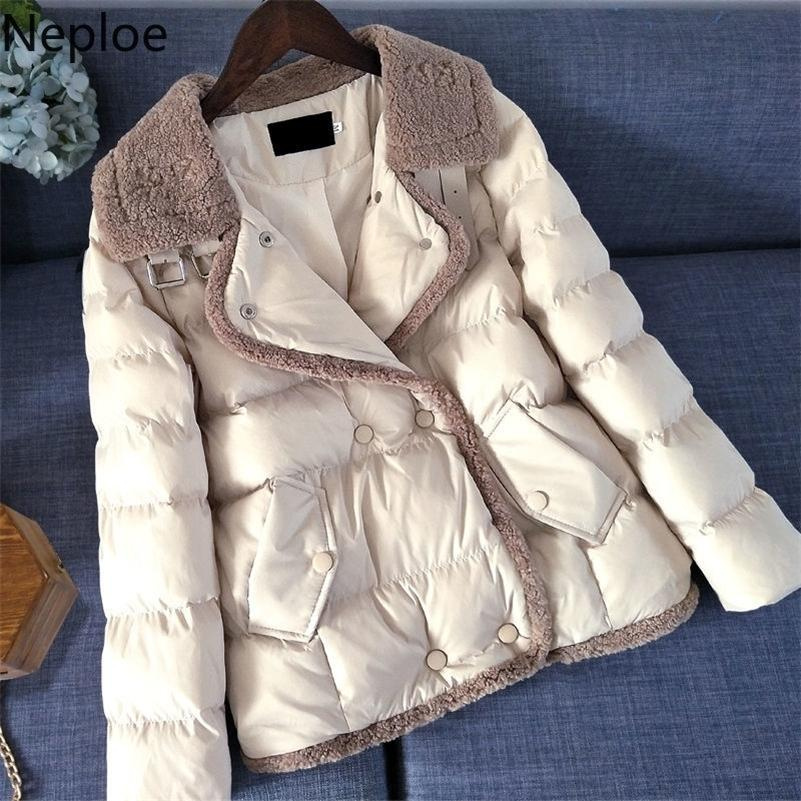 Neploe Korean Causak Coat Winter Clothes Women Thicked Warm Short Parkas Plus Size Clothed for Women Slim Female Jacket 201211