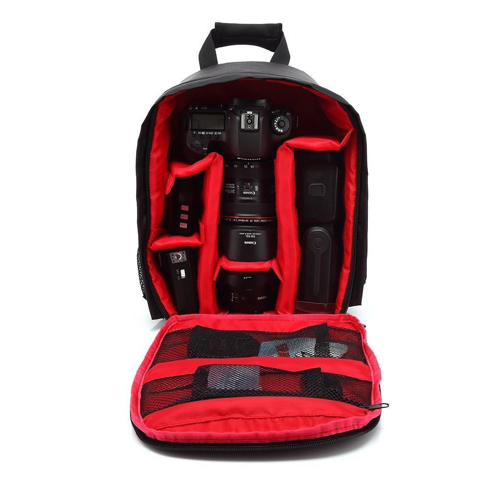 Многофункциональная камера рюкзак видео цифровой DSLR сумка водонепроницаемая открытая камера фото сумка для Nikon / для Canon / DSLR T190701