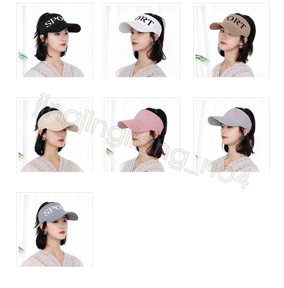 Ladies rabo de cavalo baseball cap viseira verão carta chapéus mulheres ao ar livre esportes ponytail cavalo cauda cap elástica CYF4553-4