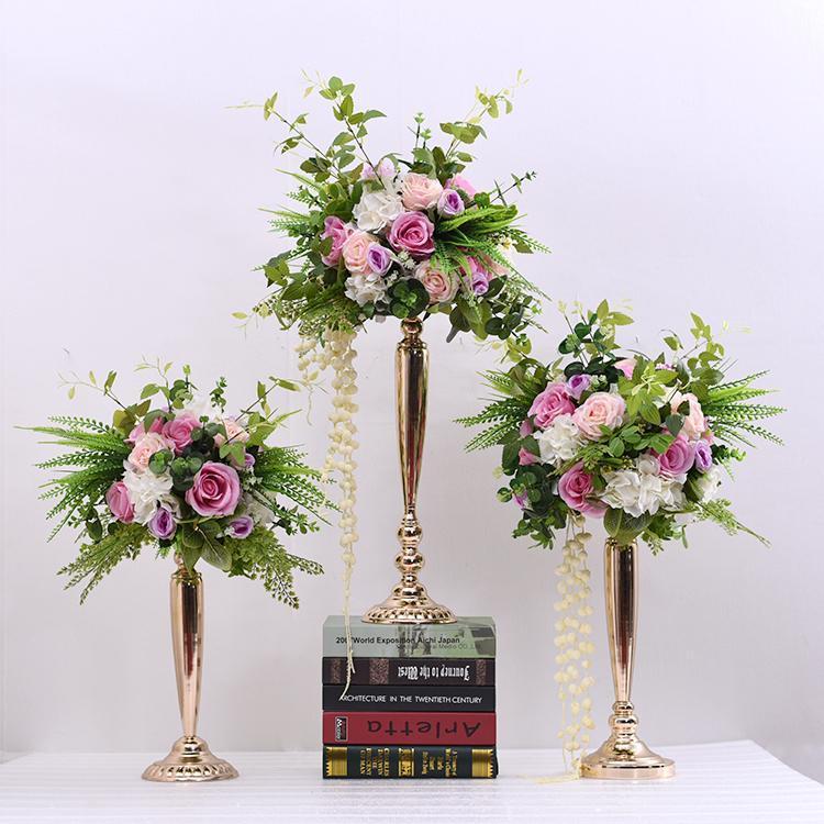 إكليل الزهور الزخرفية الزفاف إناء الحديد، زخرفة زهرة اصطناعية، نافذة الدعائم، الترحيب الديكور