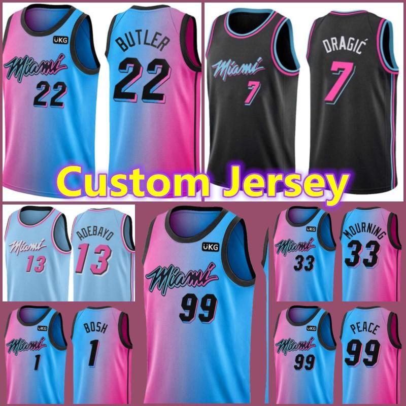 MiamiWärme benutzerdefinierte Jimmy 22 Butler Tyler 14 Herro Dwyane 3 Wade Kelly 9 Olynyk Derrick 5 Jones Jr. Udonis 40 Haslem Basketballmänner