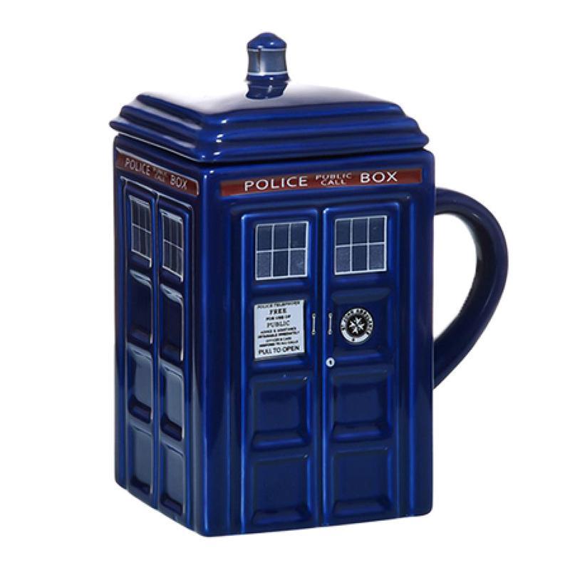 Доктор Кто Tardis полицейская коробка керамическая кружка чашка с крышкой для чая кофе кружка смешной творческий подарок рождественские подарки детей мужчины T200624