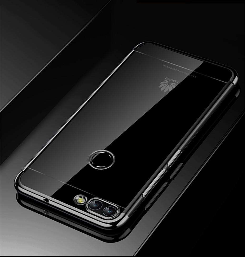 Huawei P Smart 2019 Cover Couverture transparente TPU Soft Silicone Housse Huawei P Smart Honor 9 Lite Téléphone