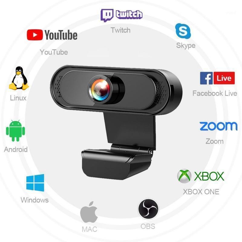 1080p 720p HD Webcam Mini computer PC WebCamera con telecamere microfono per livellari livelli di videochiamata Work1