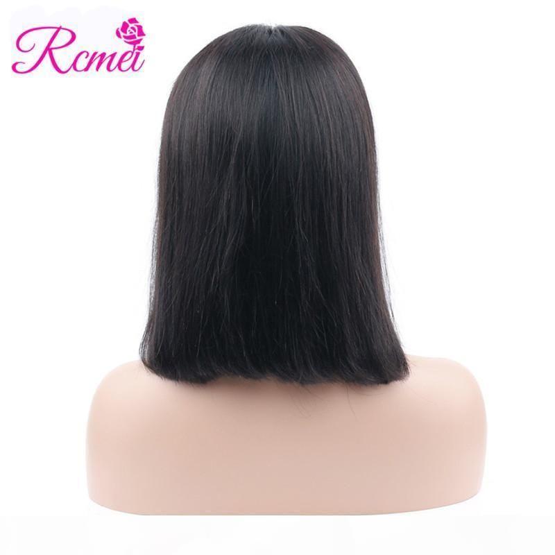 RCMEI BOB парик перуанские прямые кружевные фронтальные волосы для волос для женщин бразильские монгольские малайзийские индийские парики волос предварительно сорваны