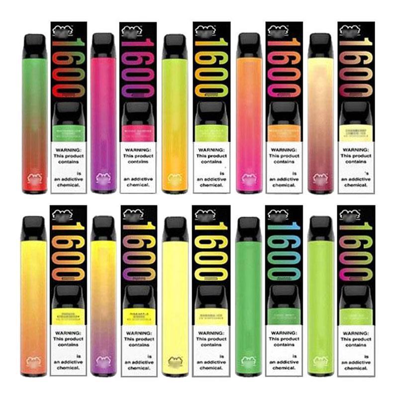 USA 6.5ml Verkauf Stift 1000mAh VAPES Batterie Puffs XXL VAPE Sale Einweg-E-Zigarette Nr. 1600 Button Bar Puff Hot Erqoe
