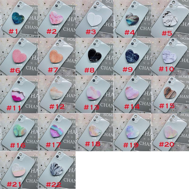 Marmorstein-Herz-Form-Halterung-Standhalter für iPhone 11 Pro xs max XR Samsung S10 Anmerkung 10 10+ Mobiltelefon Huawei