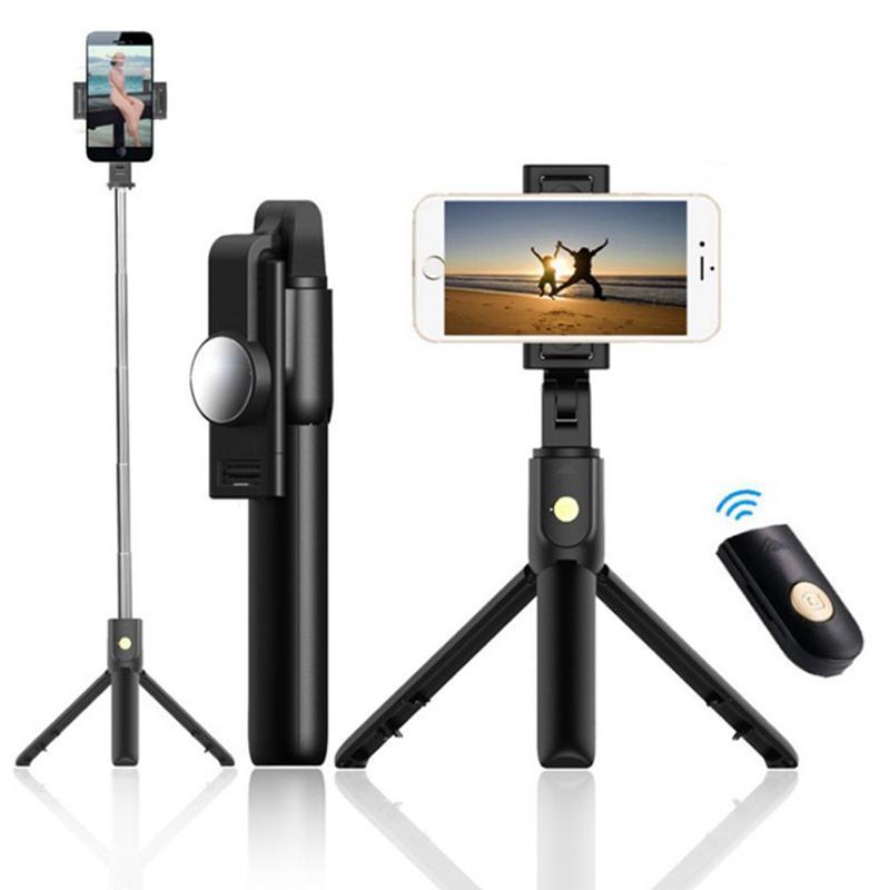 K10 Bluetooth Selfie Stick avec trépied 360 degrés rotative horizontale et verticale de tir pliant selfie pliante