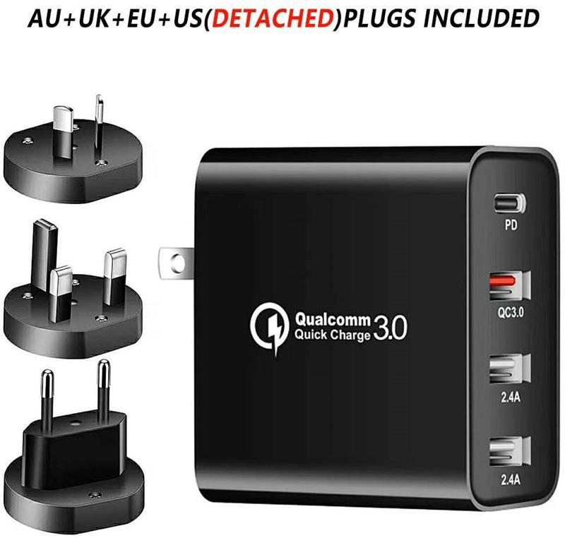 USB C 벽 충전기 48W 전원 배달 PD 빠른 어댑터 유형 플러그 iPhone 유니버셜에 대한 빠른 충전