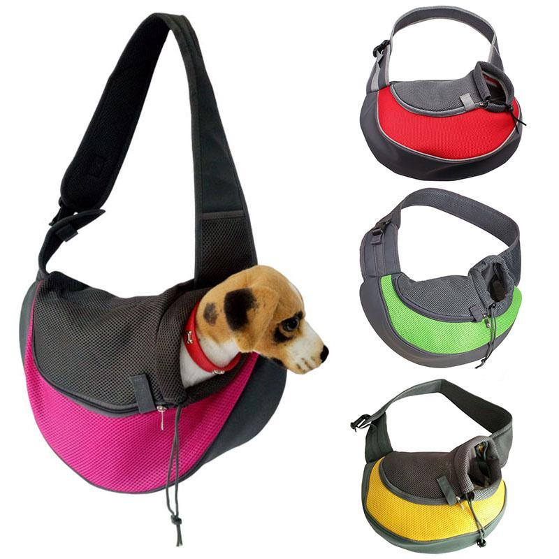 Dropshipping Pet Transport Cat Puppy Small Animal Dog Carrier Sling Mesh Front Travel Shoulder Bag Backpack Dog Accessories
